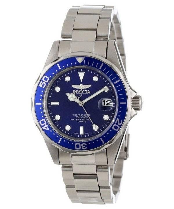 Invicta Pro Diver 200M Quartz Blue Dial 9204 Men's Watch - Click Image to Close