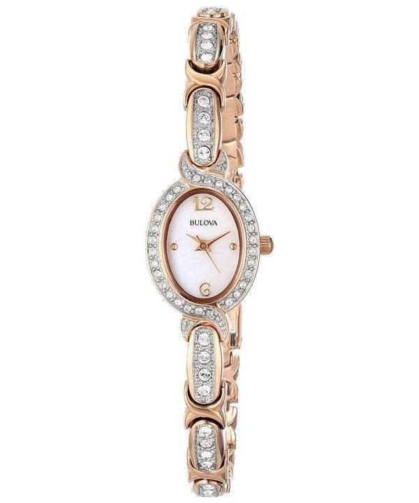 dc411b72589 Relógio Bulova aço inoxidável Swarovski Crystal 98 L 200 feminino pt