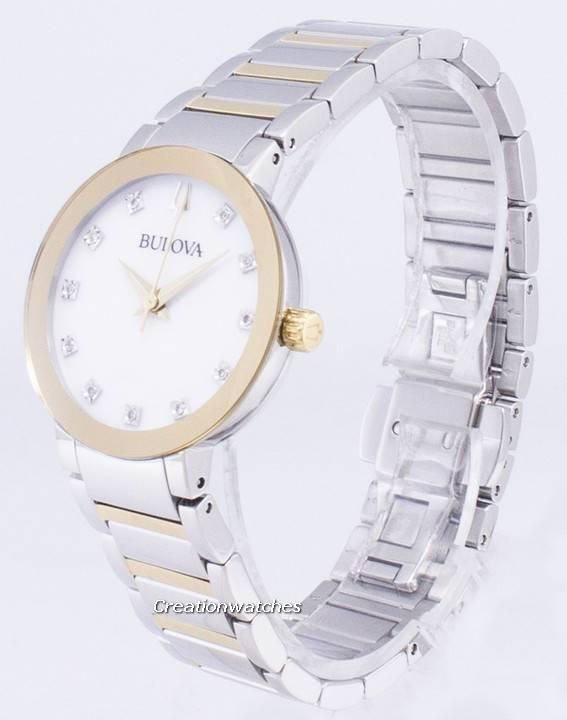358b05339b5 Relógio Bulova moderna 98 P 180 diamante acentos quartzo feminino pt