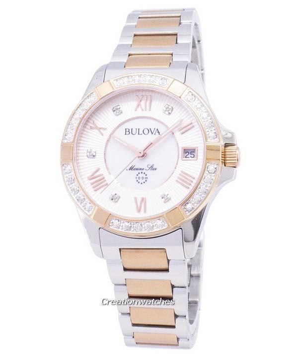 bbcbe733d63 Relógio Bulova Marine Star 98R234 diamante sotaque quartzo feminino pt