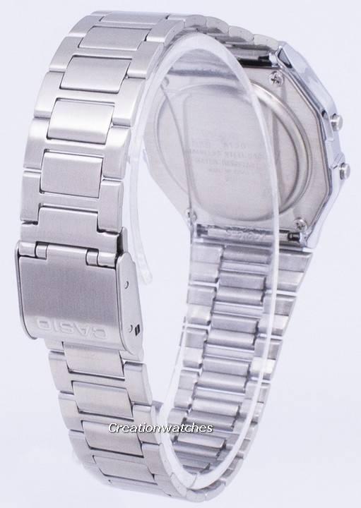 e47ef4d56202 Reloj Casio Digital de acero inoxidable con alarma diaria A158WA-1DF A158WA-1  para