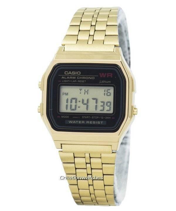 Casio ψηφιακή συναγερμού Chrono από ανοξείδωτο χάλυβα A159WGEA-1DF  A159WGEA-1 γυναικείο ρολόι 0450fefe482
