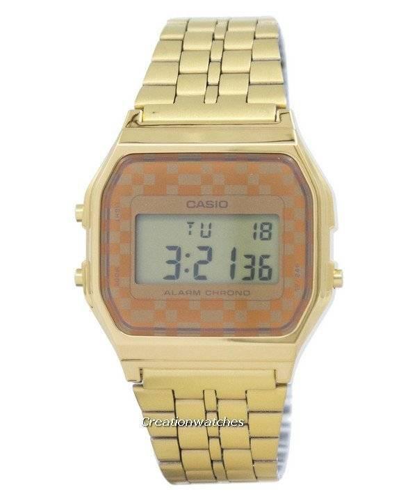 e31949bcf8cb Orologio Casio Vintage cronografo allarme digitale A159WGEA-9A-uomo it