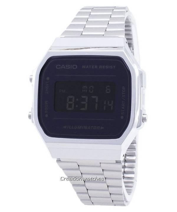 Iluminador Para Hombre Digital Casio A168wem 1 Reloj Vintage F31TJclK