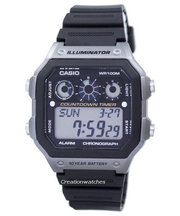 2603ff374901 Gioventù di Casio serie illuminatore cronografo allarme digitale  AE-1300WH-8AV orologio uomo