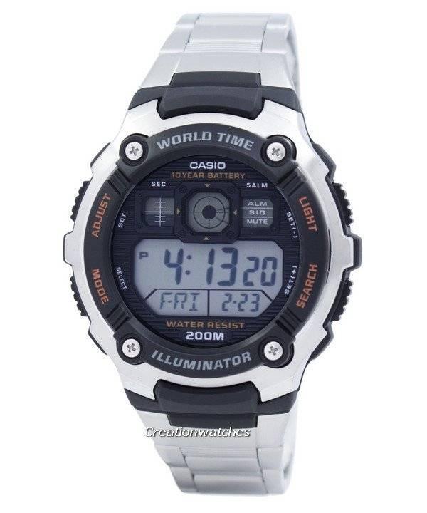 Hombre Digital Reloj Casio Ae Ae2000wd 2000wd Time Sport 1avdf Para OkiuwTPXZ