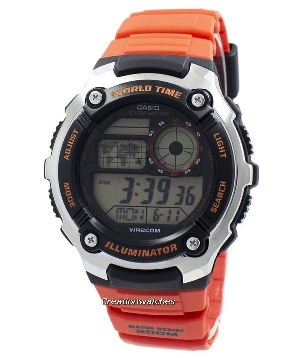93fa97b4b0f Relógio Casio juventude iluminador mundo tempo Digital AE-2100W-4AV  AE2100W-4AV masculino