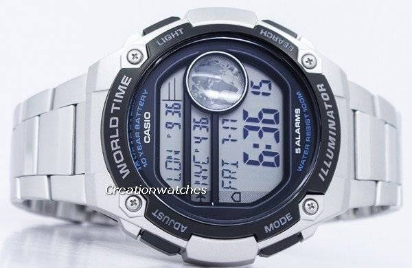 fd3e8eda3d6 Relógio Casio juventude iluminador mundo tempo Digital AE-3000WD-1AV  AE3000WD-1AV masculino