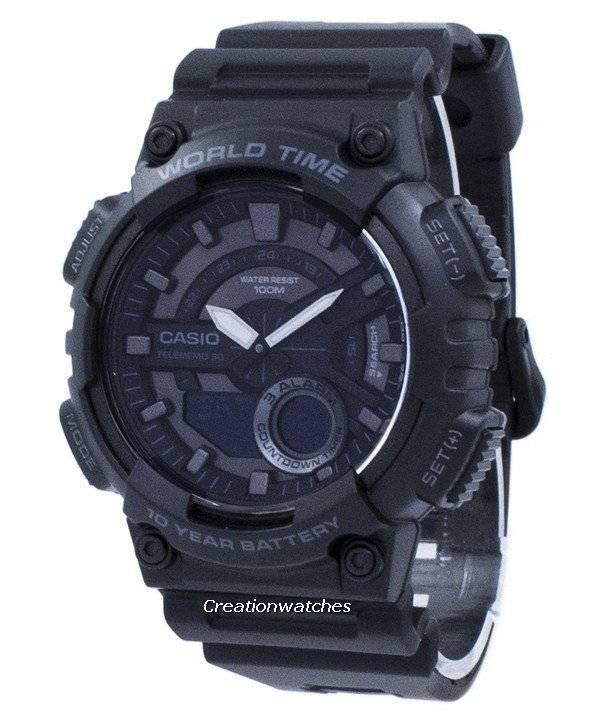 1bv Mundial Juvenil Hora Reloj Casio Aeq Telememo Aeq110w 30 110w dBCxeo