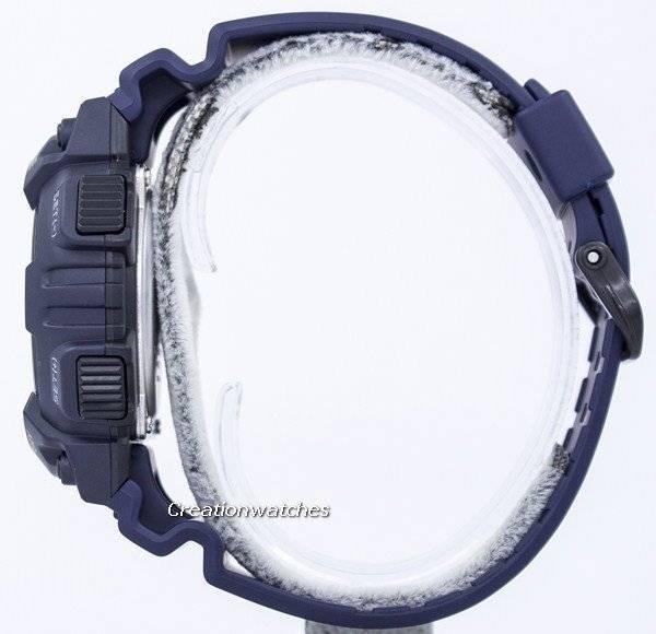 a1a8f4554 Fiche de Casio 30 monde temps alarme analogique numérique AEQ-110W-2AV montre  homme