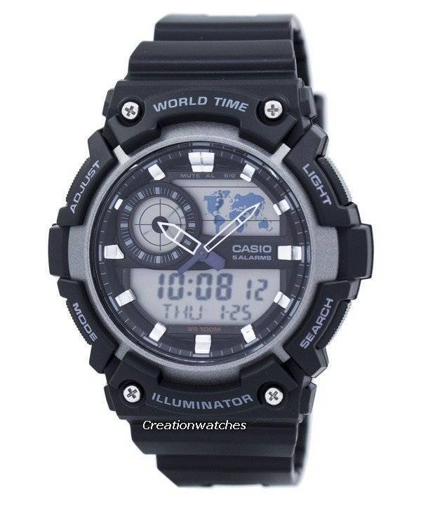 e67dd7b34b6 Casio Youth World Time Alarm Analog Digital AEQ-200W-1AV AEQ200W-1AV Men s  Watch
