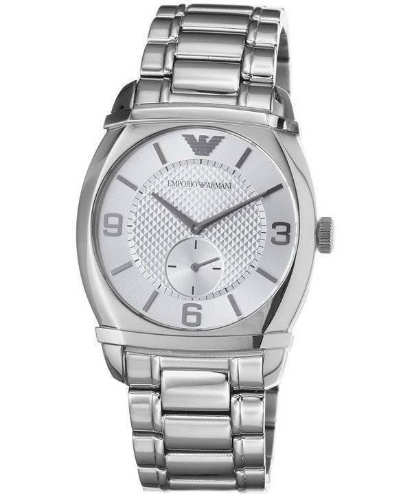 a129e9dbc427 Emporio Armani Classic Silver textured dial AR0339 reloj de caballero