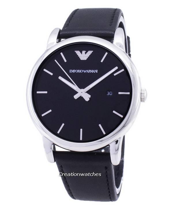 6ee2bd28bda Relógio Emporio Armani clássico mostrador preto couro preto AR1692 masculino