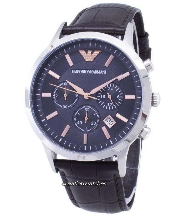 4541db0ed9f Relógio Emporio Armani cronógrafo Renato quartzo AR2513 masculino pt