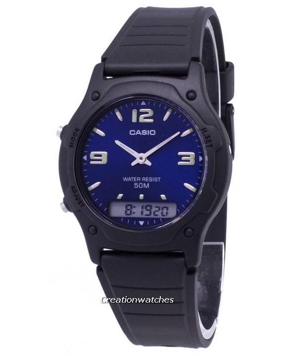 5cb374e68673 Reloj Casio Analógico Digital cuarzo Dual Time AW-49HE-2AVDF AW-49HE ...