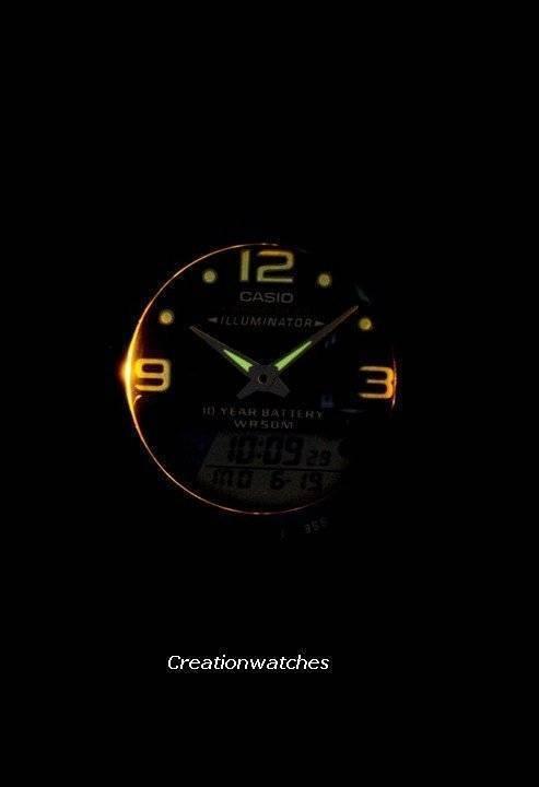 6a9de122e44 Casio Analógico Digital equipamento pesca relógio iluminador JW0051-AW-82 AW -82-