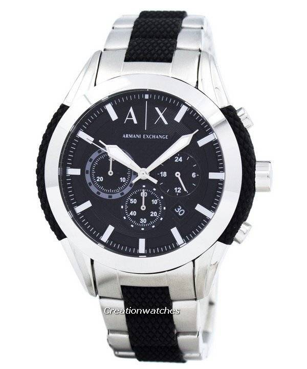 a4e84cbeb0b9 Armani Exchange Cronografo quadrante nero AX1214 orologio it