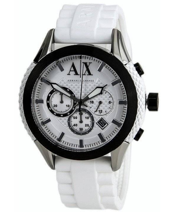 Relógio Armani Exchange cronógrafo mostrador branco AX1225 masculino pt f1a0d6d6e5