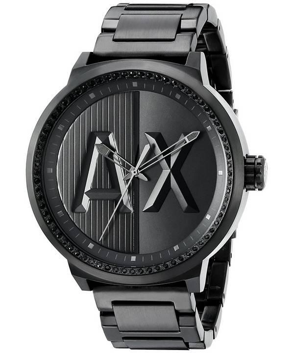 58051c2c0 Relógio Armani Exchange ATLC preta cristais quartzo AX1365 masculino pt