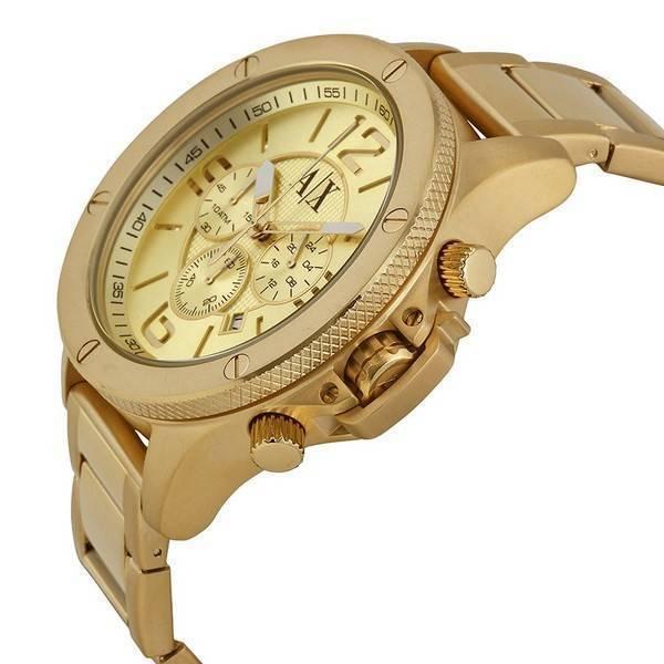 7be1272c408 Armani Exchange Chronograph Champagne Dial AX1504 Men s Watch