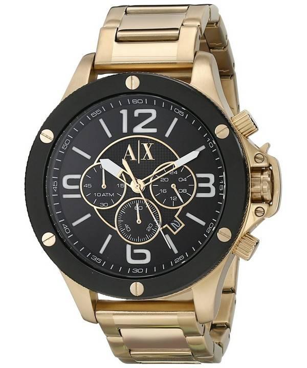 17176f8b549e Reloj de hombre Armani Exchange Quartz Chronograph Gold Tone AX1511