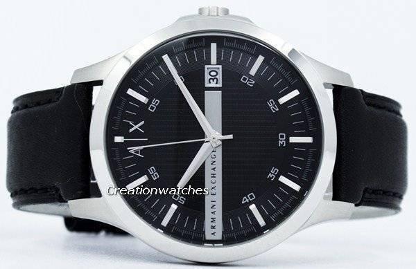 869ea689a658 Reloj de hombre con correa de cuero AX2101 con correa negra de Armani  Exchange