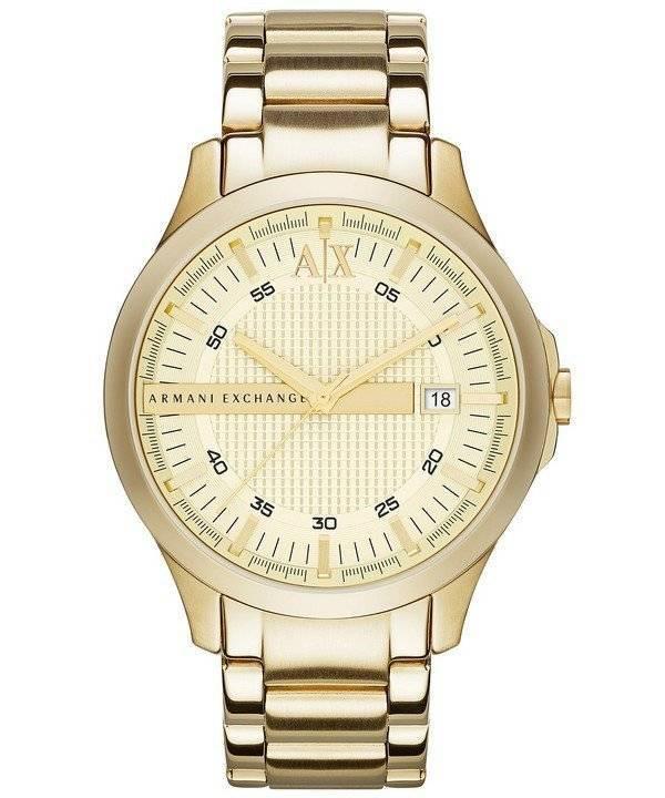 2fc315815850 Reloj Armani Exchange Gold Tone Champagne Dial AX2131 para hombres