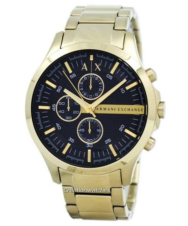 fdc6784942de Armani Exchange Cuarzo Cronógrafo dorado esfera negra AX2137 Watch ...