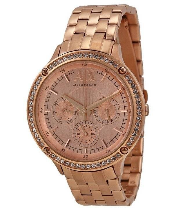 c6792400aebf Armani Exchange oro rosa esfera cristales AX5406 señoras reloj es