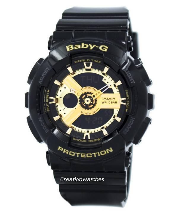 fe85d4be26c Relógio Casio Baby-G mundo tempo Analógico Digital BA-110-1A feminino pt