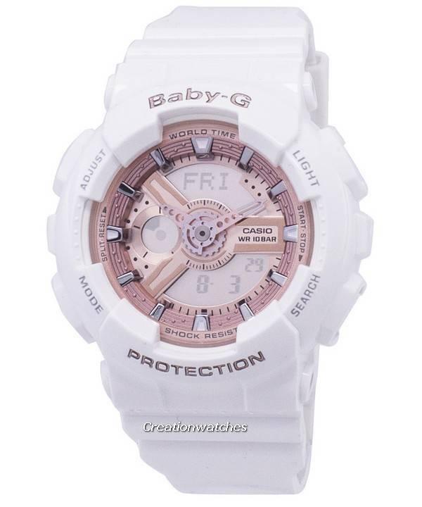 138f3f91911 Relógio Casio Baby-G mundo tempo Analógico-Digital BA-110-7A1 feminino