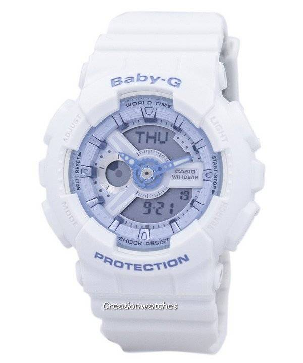 b00a3033440 Casio Baby-G BA-110BE-7A BA110BE-7A Shock Resistant World Time Analog Digital  Women s Watch