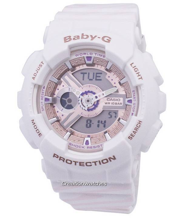 c9c8d59b2037 Reloj Casio Baby-G a prueba de golpes mundial tiempo BA-110CH-7A ...