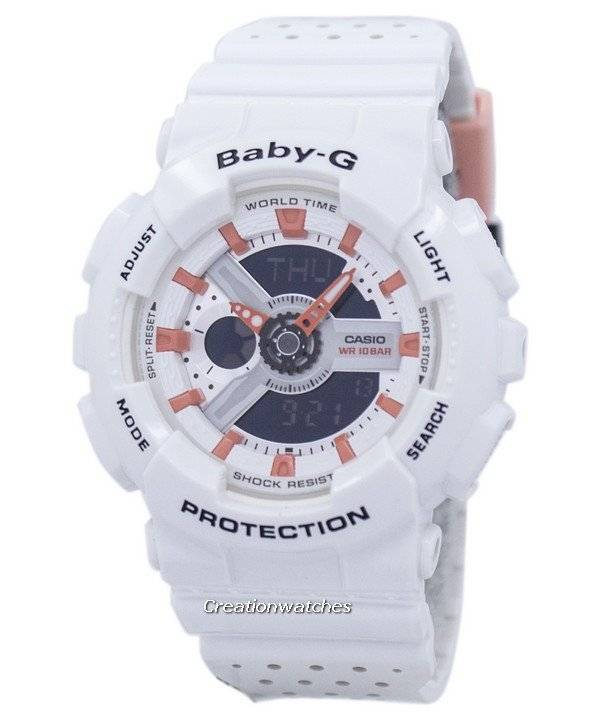 cf4cc23a56f Casio Baby-G Shock Resistant World Time Analog Digital BA-110PP-7A2 Women s  Watch