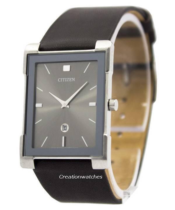 802b79d2230 Relógio Citizen Quartz couro preto magro BG5080 - 05h feminino pt