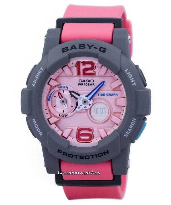 694d9805580 Relógio Casio Baby-G maré gráfico Analógico Digital BGA-180-4B2 BGA180-