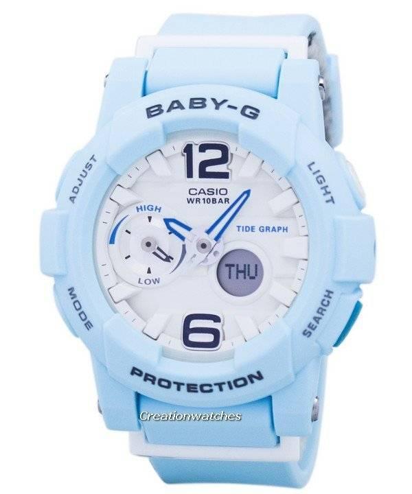 66a1971b5c9 Relógio Casio Baby-G maré anti-choque gráfico Analógico Digital BGA-180BE-