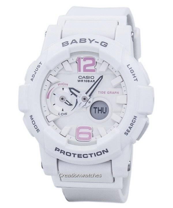 Casio Baby-G Shock Resistant Tide Graph Analog Digital BGA-180BE-7B Women s  Watch 86d6b5ccde25