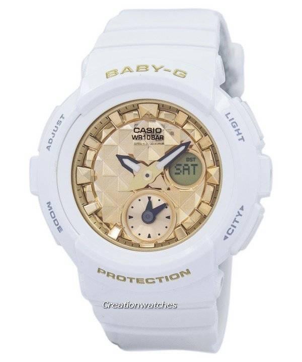 ecd65aab4464 Casio Baby-G Shock Resistant World Time Analog Digital BGA-195M-7A Women s  Watch