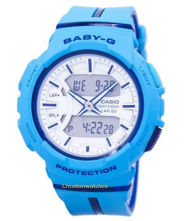 b66ffefdcc2 Casio Baby-G Shock Resistant Dual Time Analog Digital BGA-240L-2A2 Women s  Watch