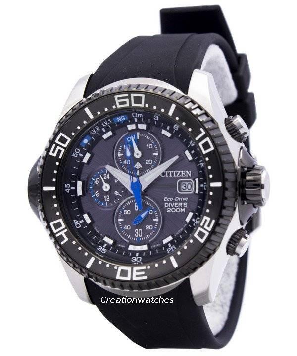f81d0c2b3de Citizen Promaster Eco Drive Aqualand Chronograph Diver s BJ2110-01E  BJ2110-01 BJ2110 Men s Watch
