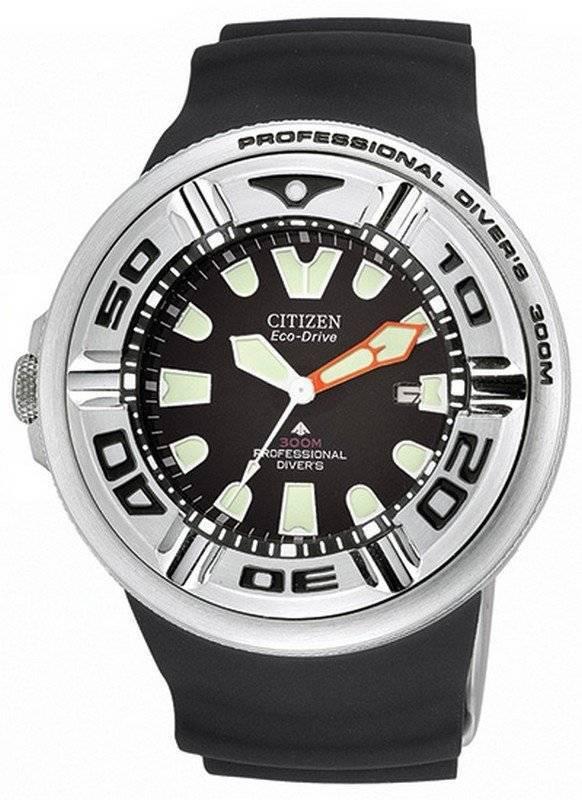 2225101bf5a2 Correa de caucho negro para hombre Citizen Eco-Drive Professional  BJ8050-08E BJ8050