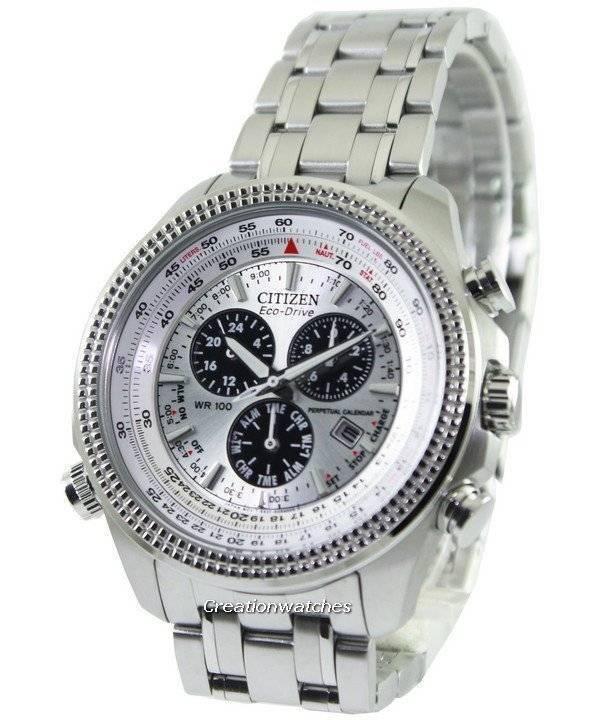7cde65eb0 Citizen Eco-Drive Perpetual Calendar Chronograph BL5400-52A Men's Watch