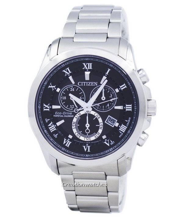 Citizen Eco-Drive Chronograph Perpetual Calendar Alarm BL5540-53E Men's Watch - Click Image to Close