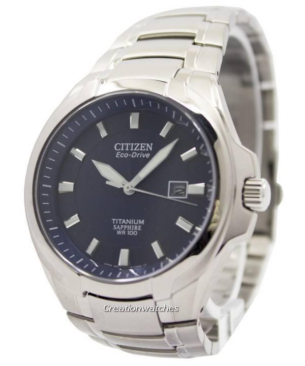Reloj para hombre Citizen Eco Drive Titanium Sapphire Crystal 100M BM7170 53L