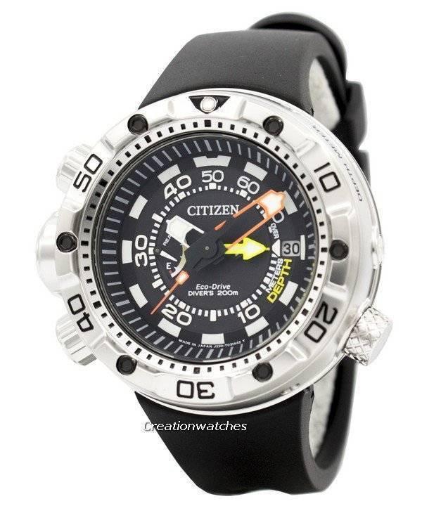 402f595b651 Relógio BN2021-03E masculino Citizen Promaster Aqualand Eco-Drive Diver é