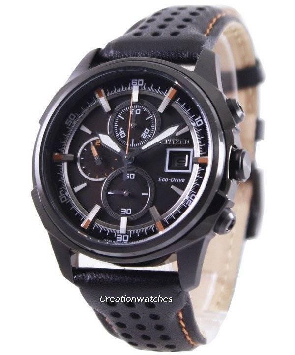 Citizen Eco Drive Leather Chronograph CA0375-00E Men s Watch 2035621b19a3