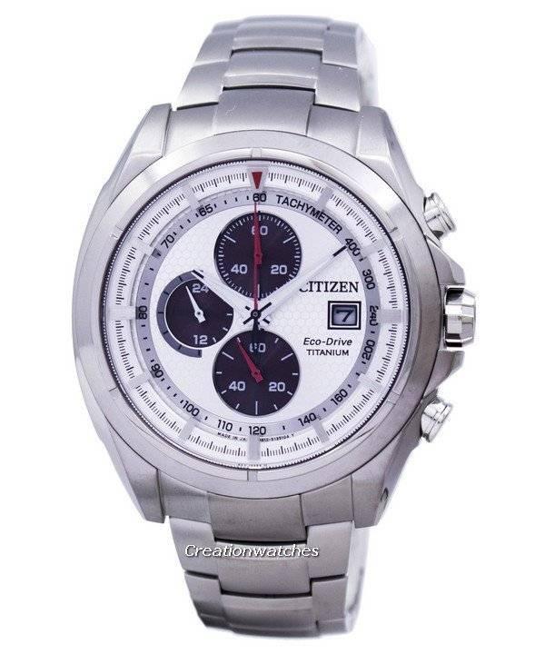 4a59f1fb657 Relógio Citizen Eco-Drive Titanium Chronograph Tachymeter CA0551-50A  masculino