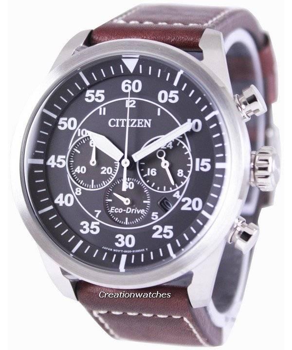 0a4b599b790 Relógio Citizen Eco-Drive aviador cronógrafo CA4210-16E masculino