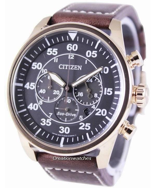 a4b34a403f8 Relógio Citizen Eco-Drive aviador cronógrafo CA4213-00E masculino